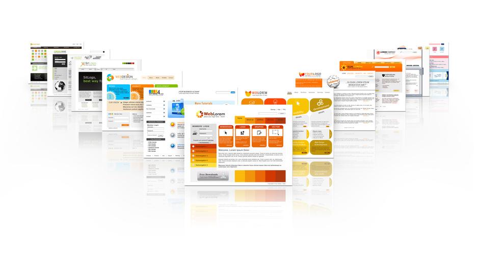 Bild mit Webseiten